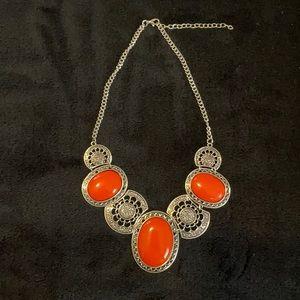 4 For $25 ⭐️ Paparazzi orange & Silver necklace